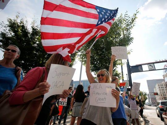 Immigration reform advocates, shown Sept. 5 in Cincinnati