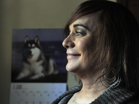 Robin Patty, a former Green Beret, is a member of the local transgender community who is in the middle of a transition from a man to a woman.