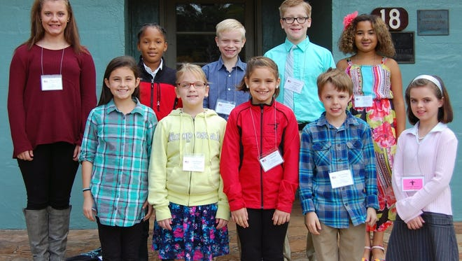 Hartwell Elementary School students shown from left to right in the front row are Natalie Morgan, Josie Carter, Bree Dickerson, Damien Childres and Alexis Vallies; and back row are Carly Cowart, Jamaica Fisher, Corban Robertson, Ayden Thomason and Maya Teasley.