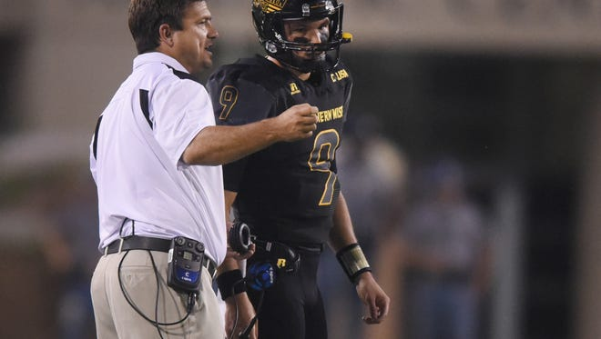 Southern Miss is optimistic Nick Mullens, right, will be healthy enough to play at LSU Saturday.