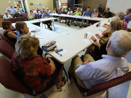About 30 people attended a Daily Herald Media listening session at the Salvation Army on Wausau's west side, Wednesday, July 29, 2015.
