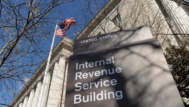 This March 22 file photo shows the exterior of the Internal Revenue Service building in Washington.