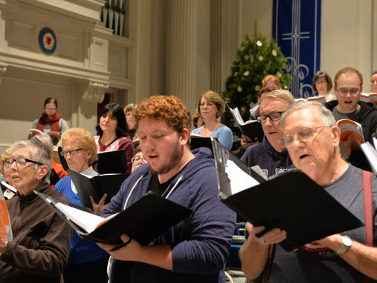 The Lebanon County Choral Society's rehearsal for the