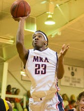 MRA's Devin Gilmore (23) drives against Oxford