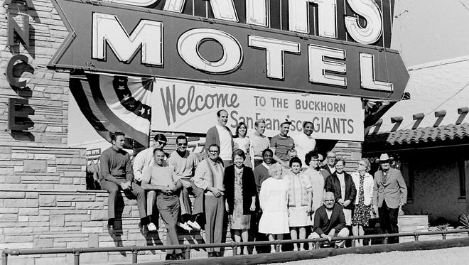 Today's Cactus League started in 1947 in part because of the New York Giants owner Horace Stoneham's discovery of Ted & Alice Sliger's Buckhorn Mineral Baths. For more than 40 years the Giants sent their star players to the Buckhorn for pampered treatment.