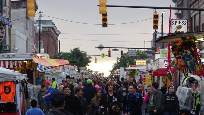 Harding Way in Galion was filled with fair-goers during a recent edition of the Galion Oktoberfest.