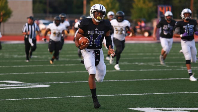 Ball State commit Johnny Adams scores a long touchdown run for Ben Davis in its win over Warren Central.