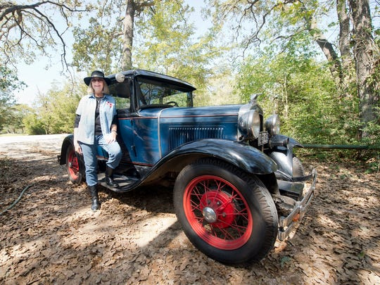 Sherry Hinnant purchased her 1931 Ford Model A Coupe in 1964 when she was 15 years old. The Hinnants plan to take a couple days to reach San Angelo for her high school class reunion in the Model A, which averages 50-55 mph on the highway.