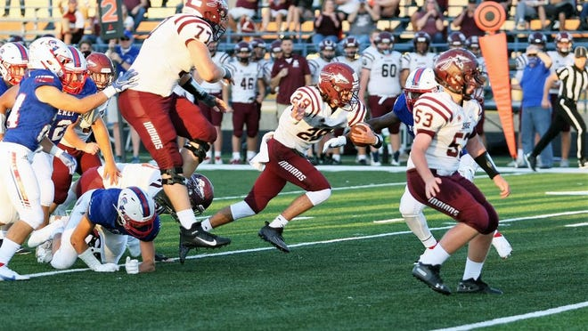 Osage's Kenan Webb makes a run in a game at Moberly on Friday, September 4.