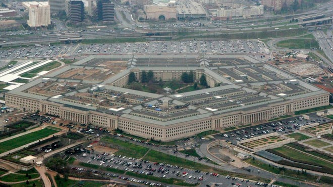 FILE - This March 27, 2008, file photo shows the Pentagon in Washington. The specter of election chaos in the United States is raising questions about whether voting, vote-counting or the post-vote reaction could become so chaotic that the military would intervene.