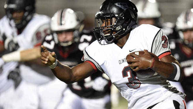 Clinton star Cam Akers was a part of a dynamic duo with Kam White Saturday.