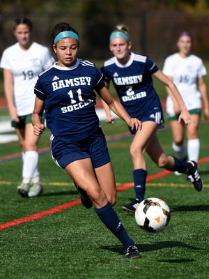 Alexa Correa (11) will lead Ramsey into Saturday's Bergen County Girls Soccer Tournament final against Northern Highlands.