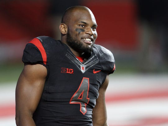 Leonte Carroo's production as a senior for Rutgers was a reason to smile but his nagging injuries were not.