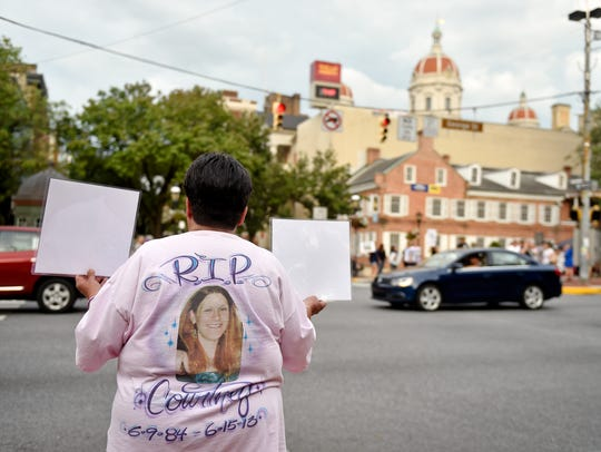Steph Boyer of Hellam Township wears a T-shirt depicting