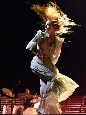 """Florence Welch of Florence + the Machine performs during the Life Is Beautiful Festival. Their""""High as Hope"""" tourcomes to Nashville's Bridgestone Arena on Oct.2."""