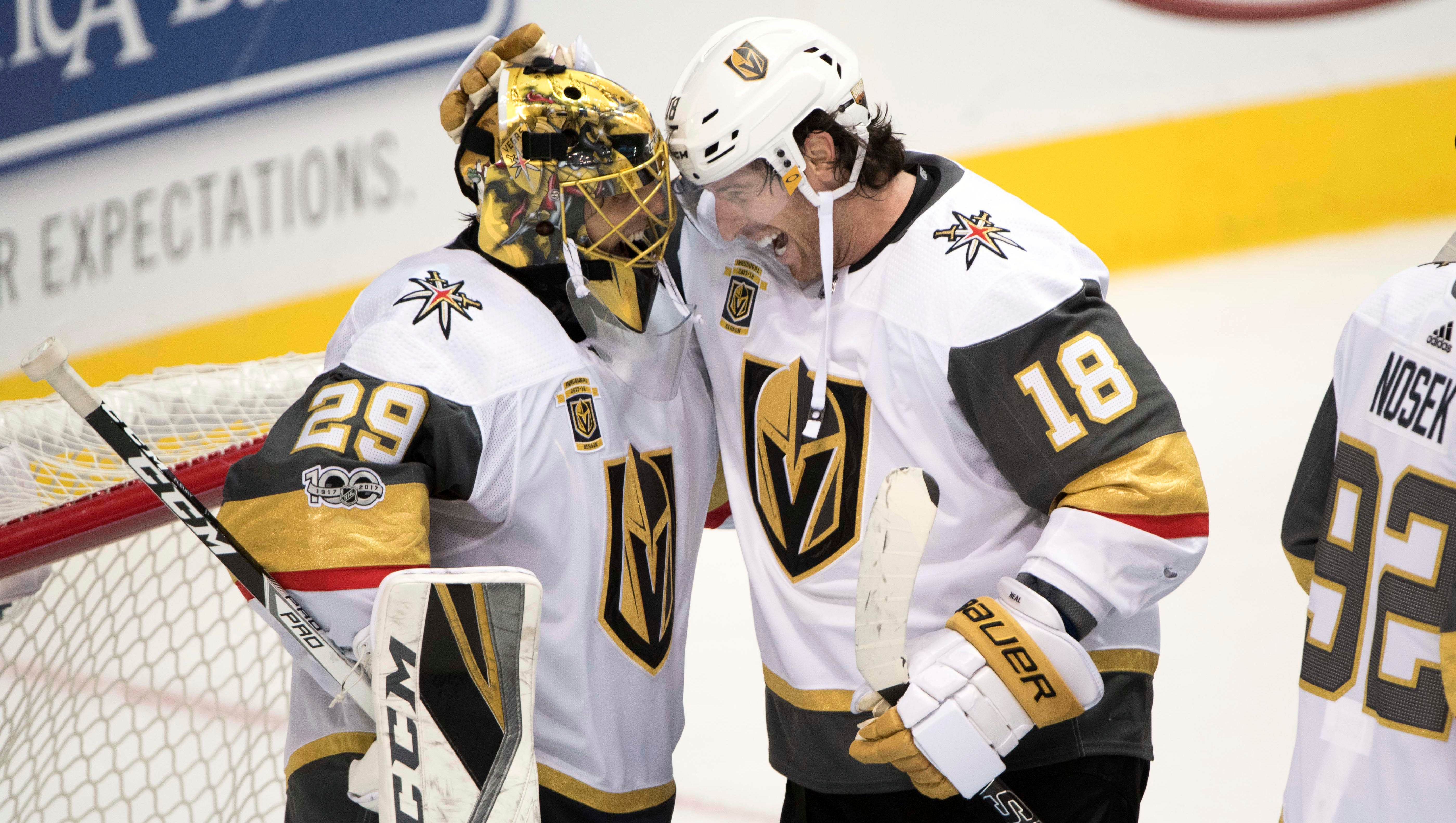 Marc-Andre Fleury, James Neal help Vegas Golden Knights win first game