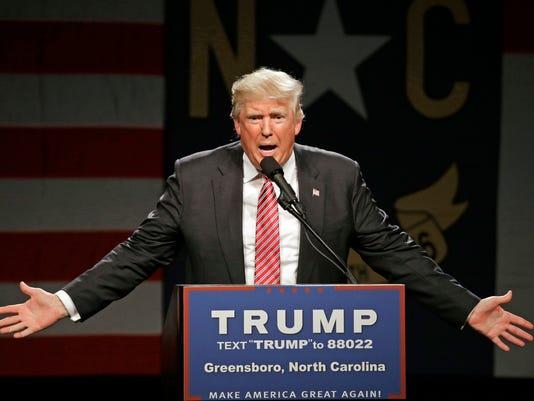 AP APTOPIX GOP 2016 TRUMP A ELN USA NC