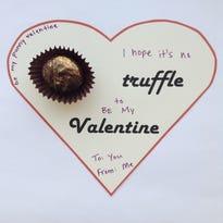 Food writer Sarah Stone's Valentine truffle.
