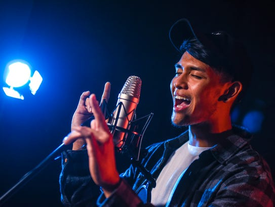 Singer Jed Antonio gives a sample performance of his