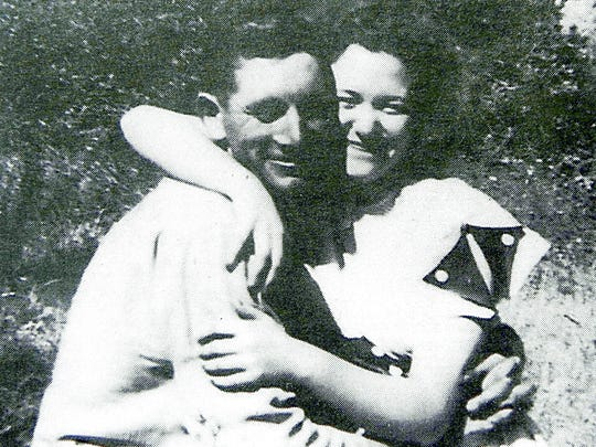 Isaac and Pearl Marler in 1946.