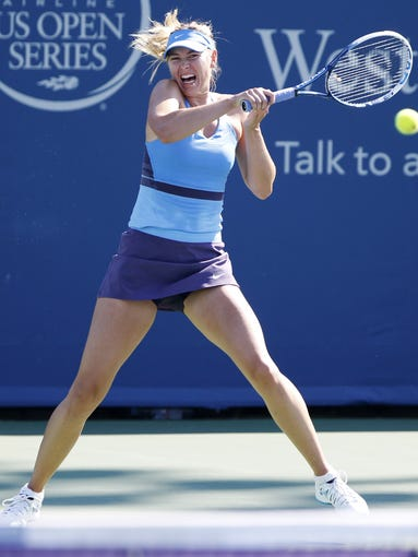 Maria Sharapova beat fellow Russian Anastasia Pavlyuchenkova, 6-4, 7-6 during the Western and Southern Open at the Lindner Family Tennis Center.