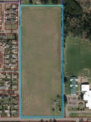 An aerial view of the annexed 27 acres located on Shaff