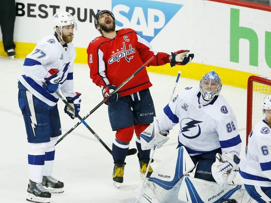 NHL: Stanley Cup Playoffs-Tampa Bay Lightning at Washington Capitals