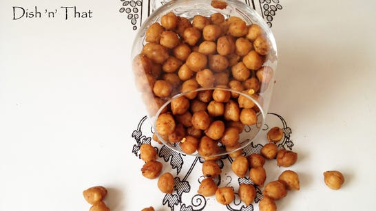 Crunchy Seasoned Chickpeas make a healthful addition