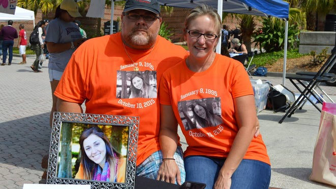 Bill and Lacey DeMott lost their daughter to a drunk driver in October. Keri Anne DeMott was a third-semester sociology student at UCF.