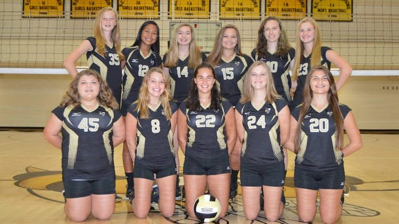 The Hayesville junior-varsity volleyball team.