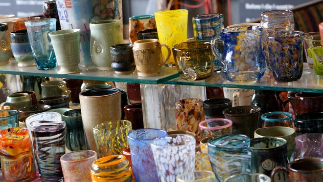 glass work created by First City Art Center