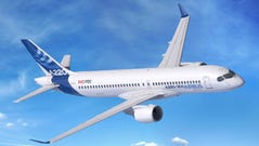 This image provided by Airbus shows an Airbus A220-300