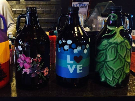 Painting growlers and other beer-paired activities