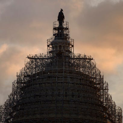 The Capitol dome is seen  in Washington.