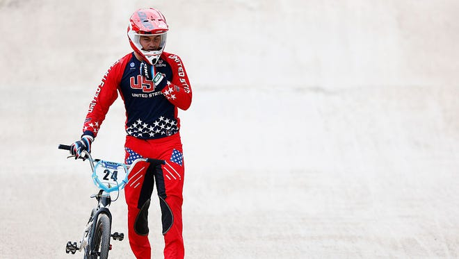Corben Sharrah of Tucson qualified for the Rio Olympics on Saturday by winning at the USA Cycling BMX Olympic Trials.