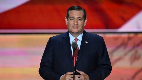 Sen. Ted Cruz speaks during the Republican National