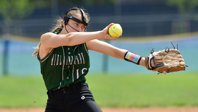 Pitcher Emily Kontos has been having a solid season for No. 3 Midland Park.