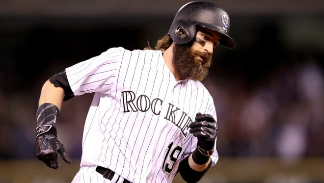 Charlie Blackmon of the Rockies hit .438 with three home runs and 14 RBI in his previous seven games entering Saturday.