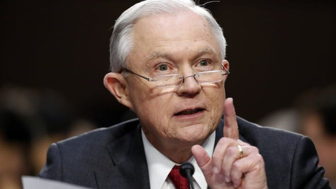 Attorney General Jeff Sessions testifies on June 13, 2017.