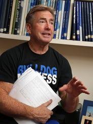 Metuchen High School Athletics Director John Cathcart