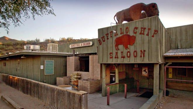 The Buffalo Chip Saloon in Cave Creek, Arizona.