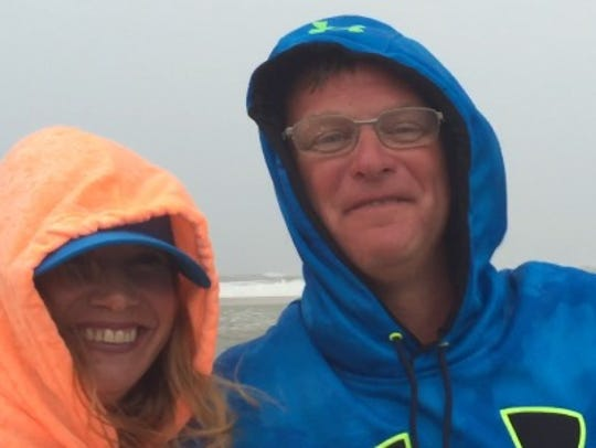 Michael and Tracy Cantore of Pennsylvania pose for