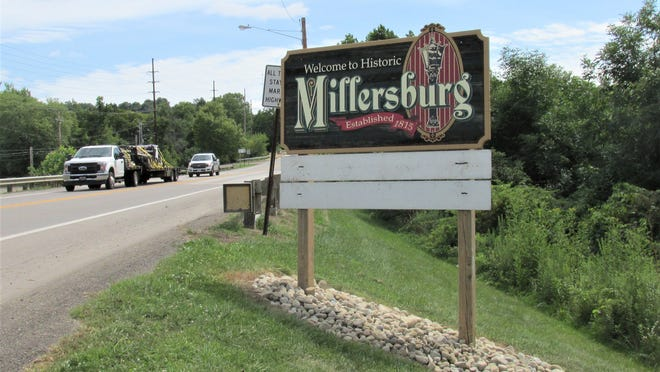 Village workers got rid of overgrown weeds and added new rocks to the Welcome to Millersburg signs.