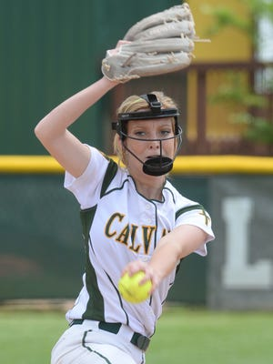 Sarah Chamberlain takes the mound against Thomas Jefferson in the LHSAA Class 2A quarterfinals game.