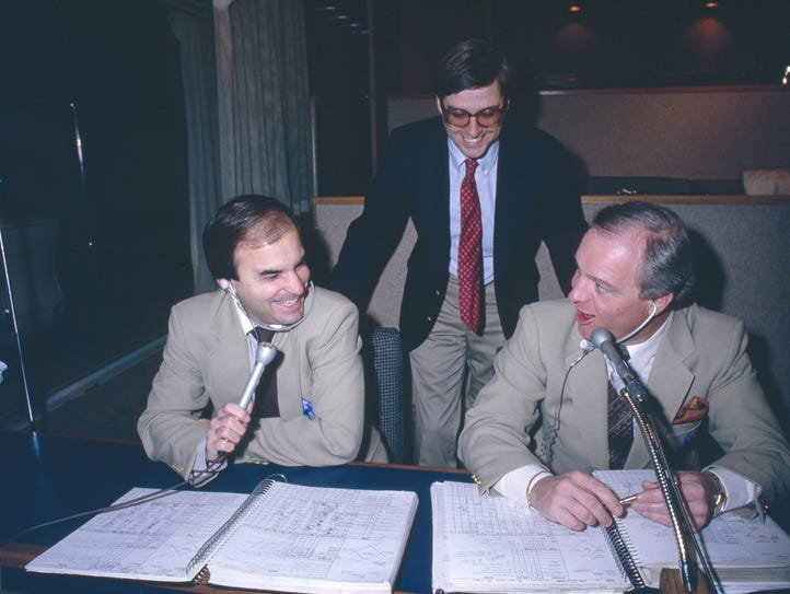 The Mariners broadcast crew -- from left, Rick Rizzs,