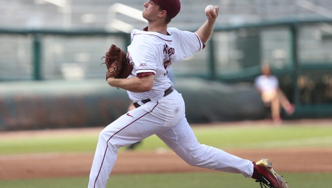 FSU's Andrew Karp pitches against Wake Forest at Dick Howser Stadium on Saturday, May 13, 2017.