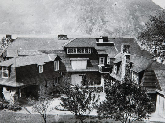 An historic photograph of Northgate, a former estate in Cold Spring, copy photographed April 29, 2014. Rob Yasinsac and Thom Johnson have spearheaded efforts to preserve what remains of the stone structures and have planned a clean-up for this coming weekend.