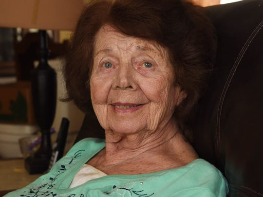 Mary E. Ranalli-Arvanetes, a 91-year-old Town of Poughkeepsie resident whose home is being fixed by Rebuilding Together Dutchess County.