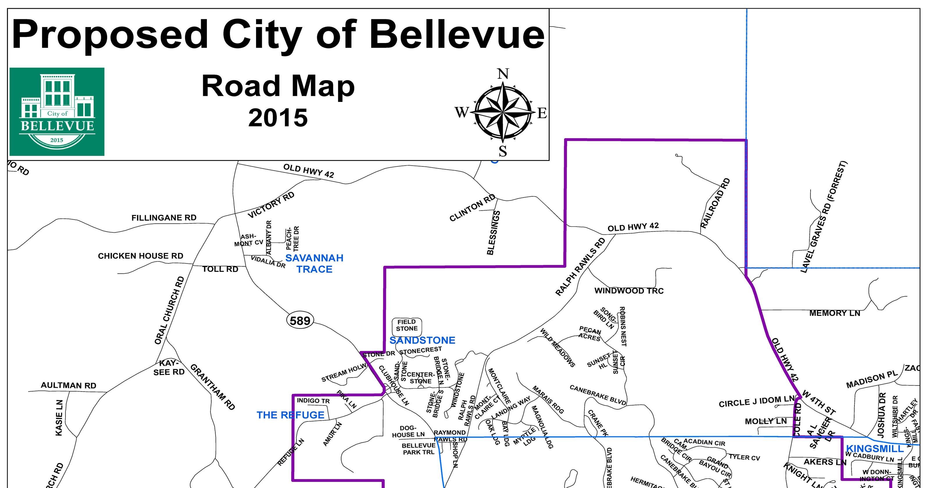 Bellevue subdivisions
