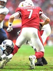 Titans defensive tackle Jurrell Casey (99) sacks Cardinals